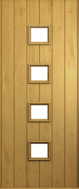 A Solidor Parma front door in Irish Oak