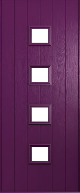 A Solidor Parma door in rich Aubergine