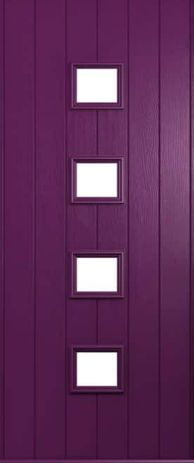 A Solidor Parma door in rich Aubergine