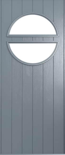 A Solidor Pisa front door in French grey