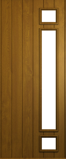 A Solidor Rimini front door in Golden Oak
