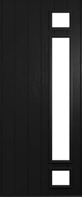 A Solidor Rimini front door in black