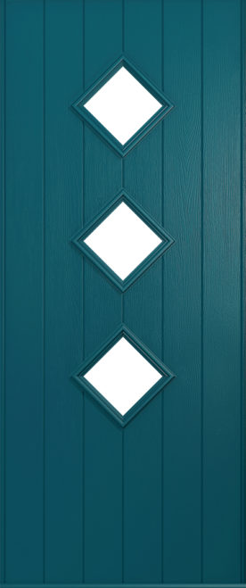 A Solidor Roma front door in Peacock blue