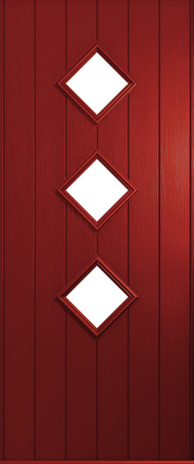 A Solidor Roma door in red
