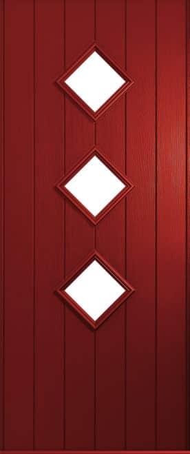 A Solidor Roma door in red