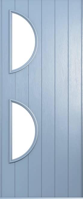 A Solidor Siena front door in duck egg blue