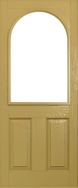 A Solidor Stafford front door in golden sand