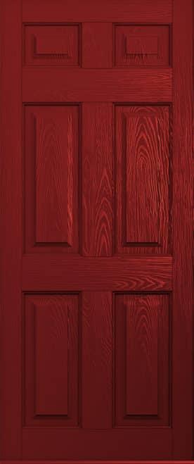 A Solidor Tenby door in red