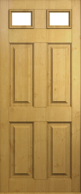 A Solidor Tenby door in Rich Oak