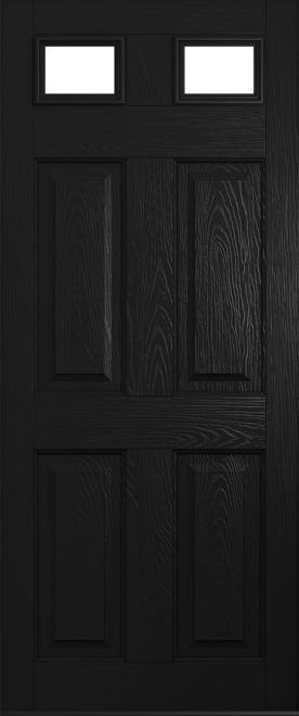 A Solidor Tenby door in black