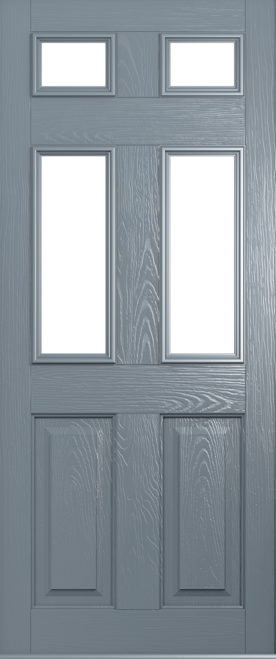Solidor Tenby front door in French grey