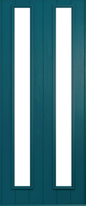 A Solidor Venice door in Peacock blue