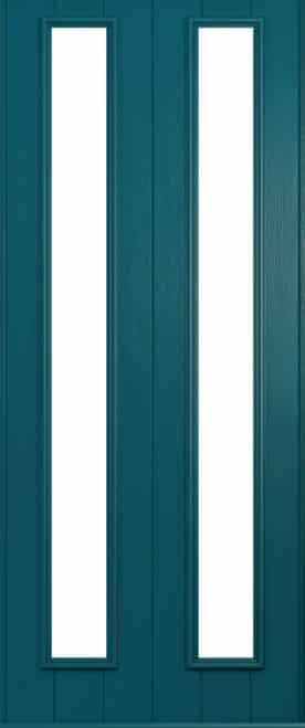 A Solidor Venice door in Peacock blue