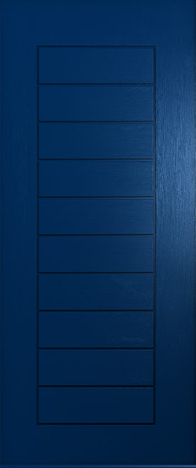 solid blue windsor front door