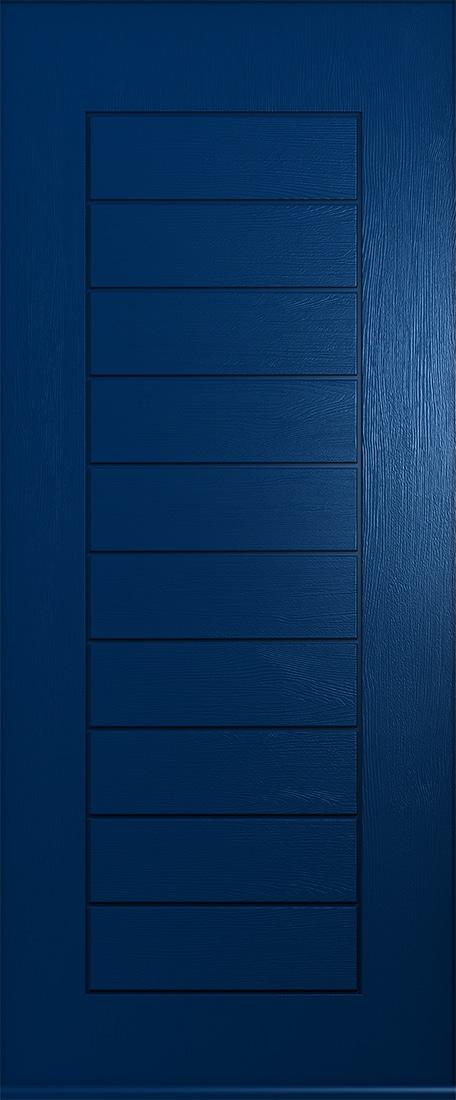 solid blue windsor front door