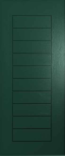 Solid green windsor door