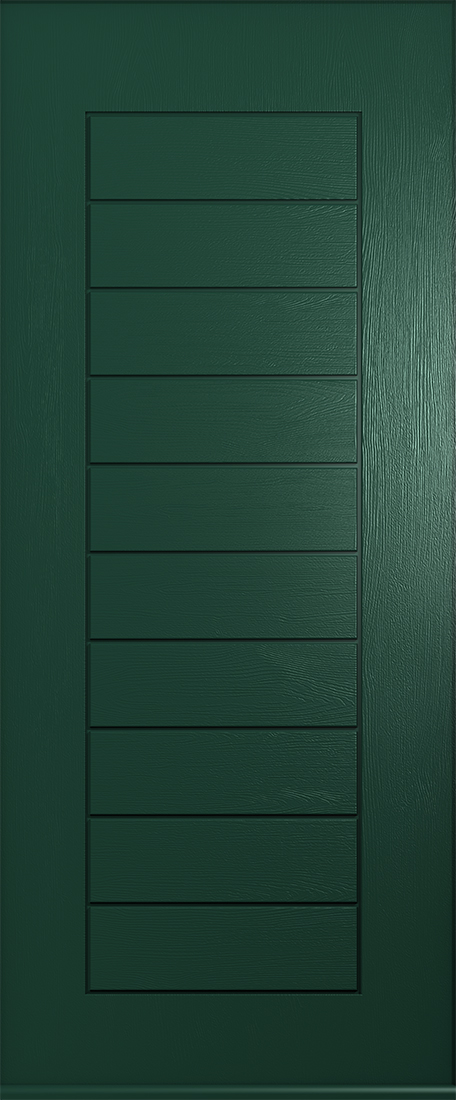 Solid green windsor door