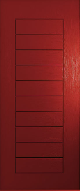 A Solidor Windsor door in red