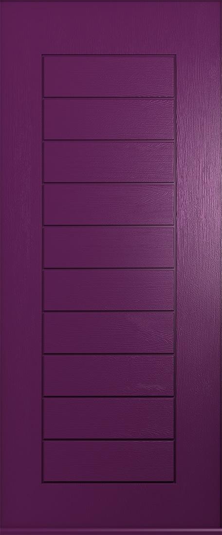 rich aubergine windsor solid door