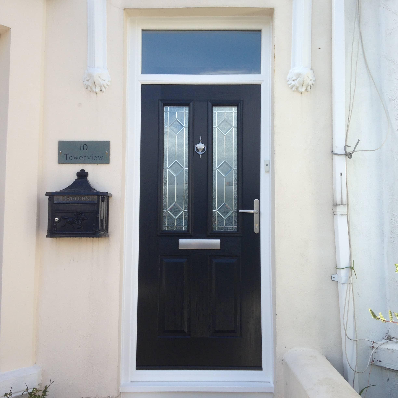 black ludlow door