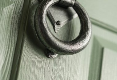 matte grey door knocker