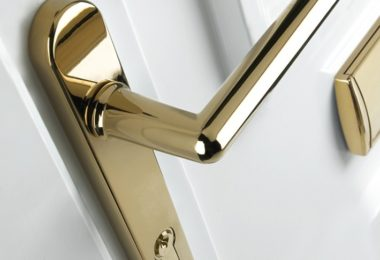 shiny gold door handle