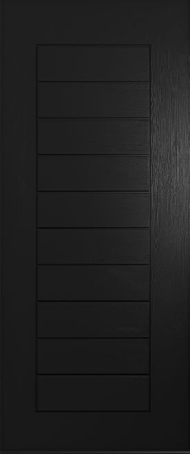 A Solidor Windsor front door in black