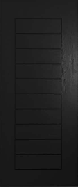 A Solidor Windsor front door in black
