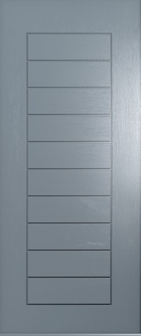 solid french grey Windsor door