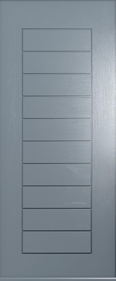 solid french grey Windsor door