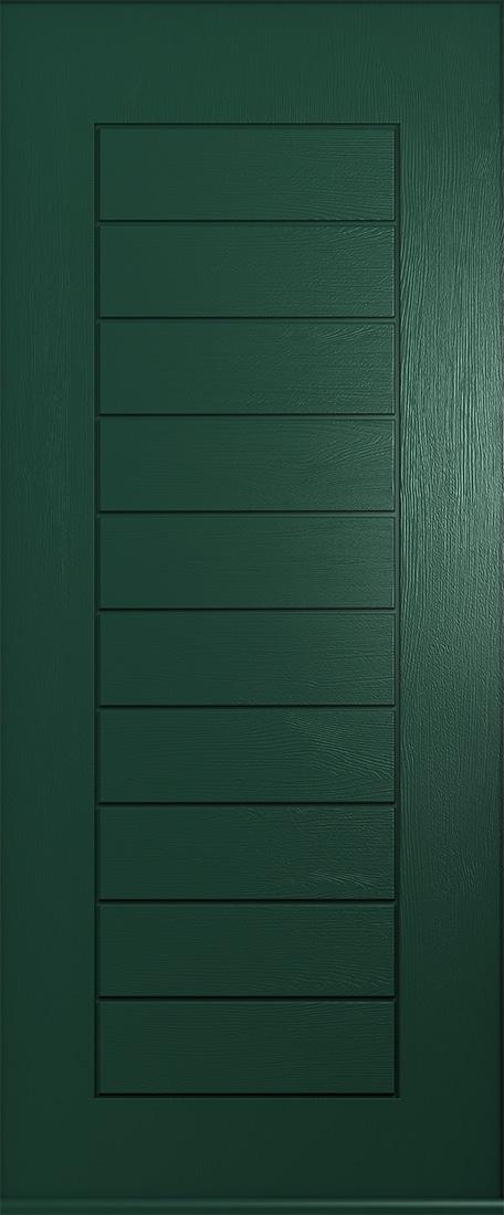Green windsor composite door