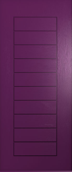 rich aubergine windsor solid door