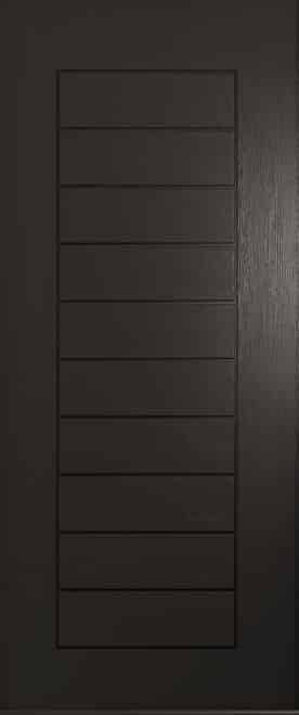 Schwarzbraun solid front door