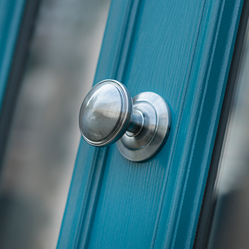 A doorhandle on a Solidor Edinburgh