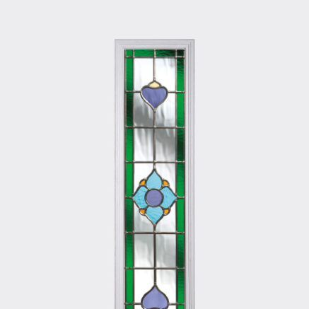 A piece of coloured glass for use in a Solidor