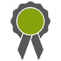 An icon image of an award rosette