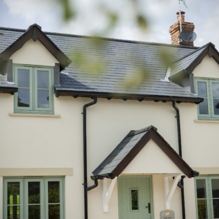 A house with windows and door by Solidor