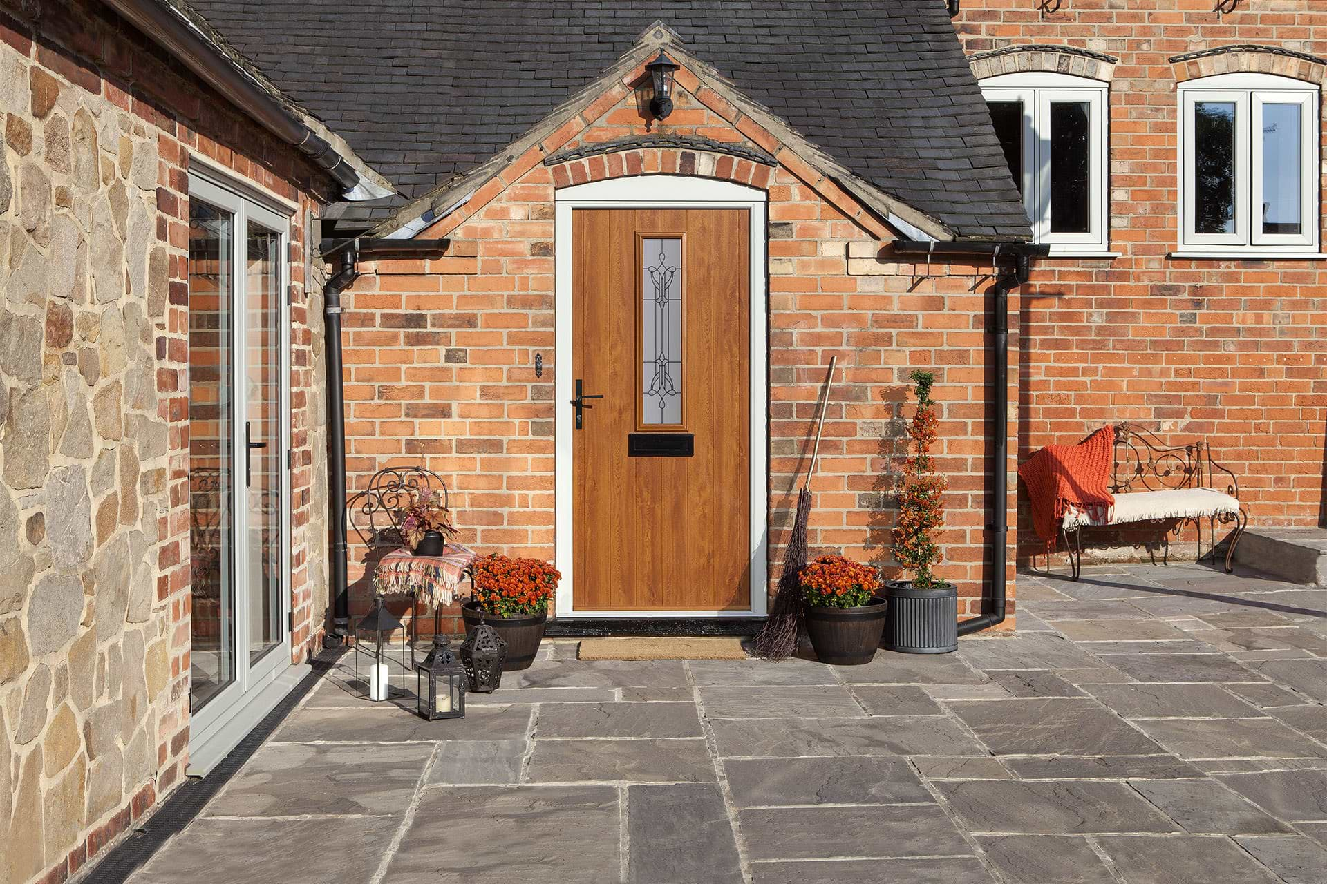 Flint composite front door Solidor