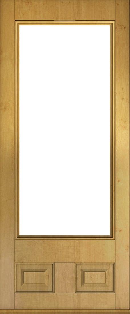irish oak alnwick glazed front door