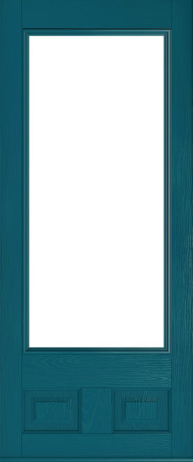 peacock blue alnwick glazed composite front door