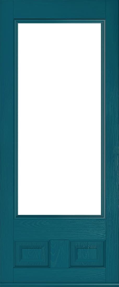 peacock blue alnwick glazed composite front door