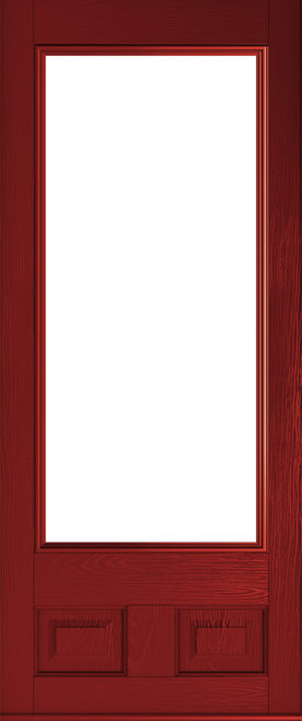 alnwick red glazed door