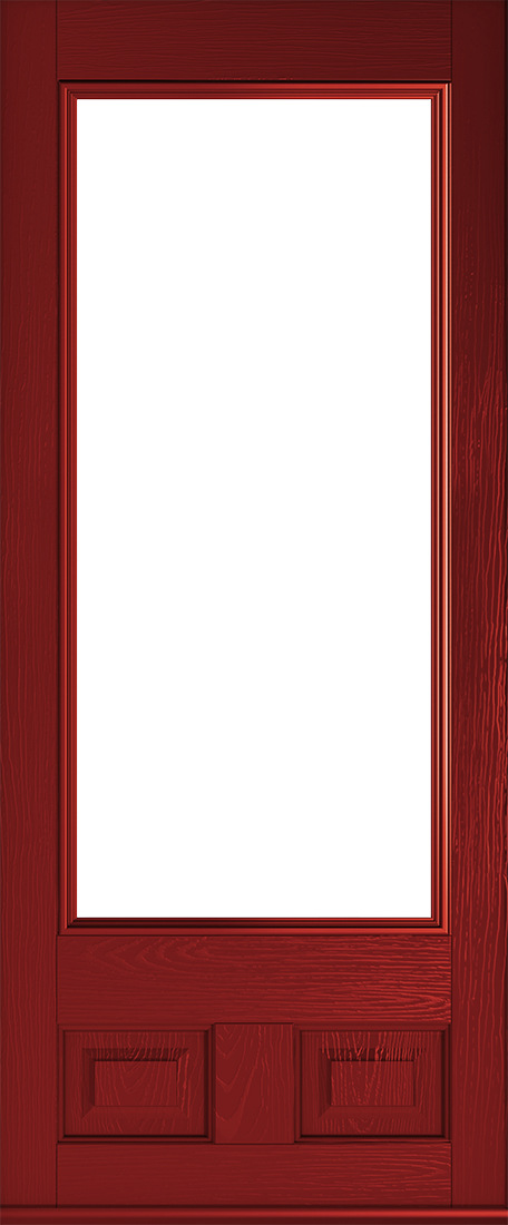 alnwick red glazed door