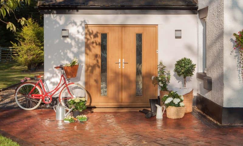 Composite door - Amalfi double doors.
